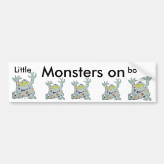 Little Monsters On Board Bumper Sticker