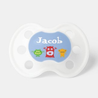 Little Monsters Personalized Baby Pacifier