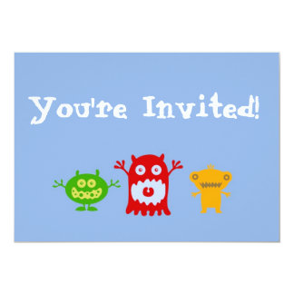 Little Monsters Personalized Party Invitation
