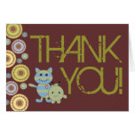 Little Monsters Thank You Baby Shower Note Card