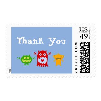 Little Monsters Thank You Stamps