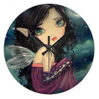 Little Moon Big-Eye Fairy Fantasy Art Clock