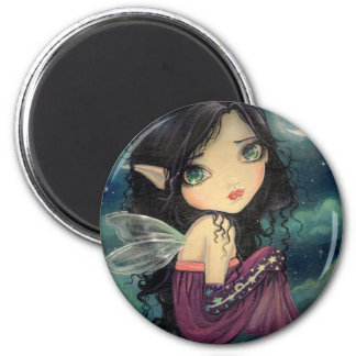 Little Moon Big-Eye Fairy Fantasy Art Magnet