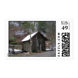 Little Mountain Cabin Postage Stamp