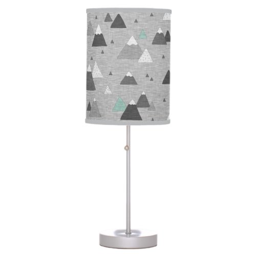 little Mountains - mint/grey Table Lamp