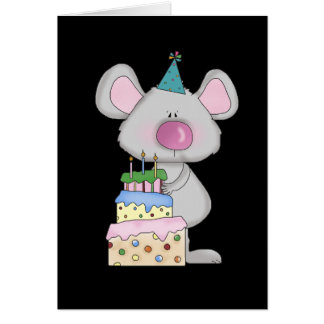Little Mouse Birthday Tshirts and Gifts Greeting Card