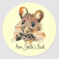 Little Mouse Book Plate to Customize