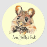 Little Mouse Book Plate to Customize Stickers