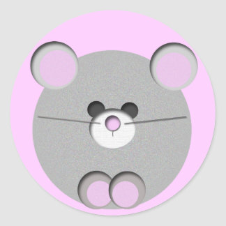 Little Mouse Classic Round Sticker