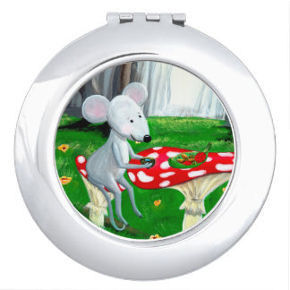 Little Mouse / Gift For a Girl / Compact Mirror