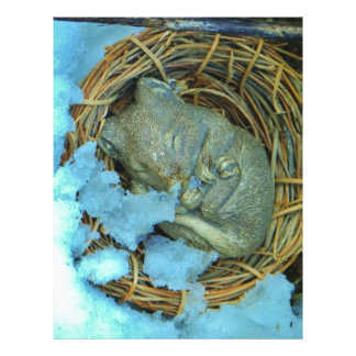 Little mouse in the snow customized letterhead