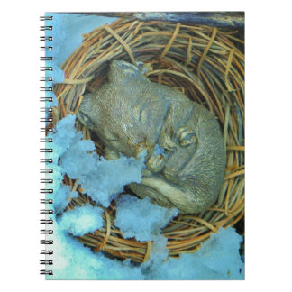 Little mouse in the snow spiral notebook