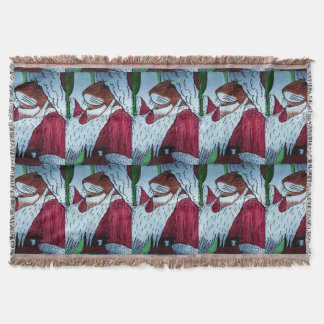 LITTLE MOUSE SANTA CLAUSE throw