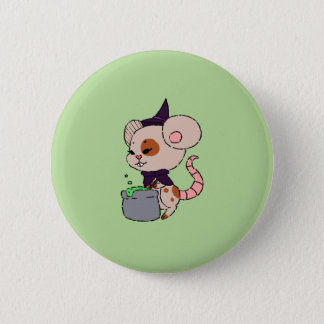 Little Mouse Witch Button