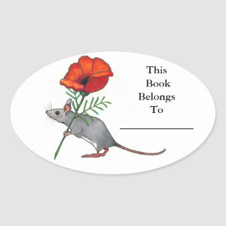 Little Mouse With Big Flower: Book Plate