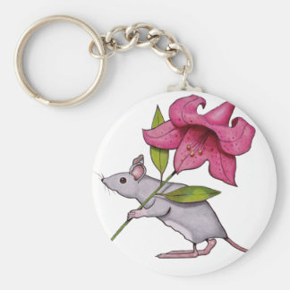 Little Mouse With Big Flower: Lily, Art Keychains
