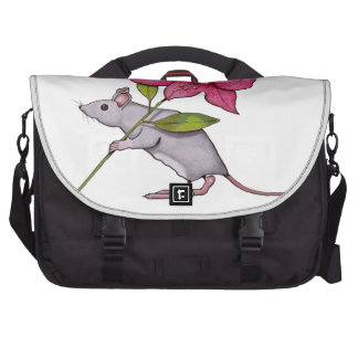 Little Mouse With Big Flower: Lily, Art Bags For Laptop
