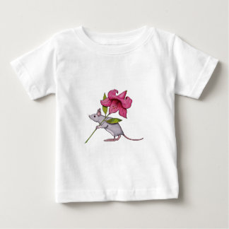 Little Mouse With Big Flower: Lily, Art Tee Shirt