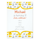 """little mouses & cheese with yellow frame 5"""" x 7"""" invitation card"""