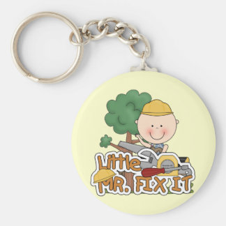 Little Mr. Fix-It Saw t-shirts and Gifts Basic Round Button Keychain