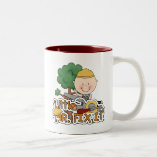 Little Mr. Fix-It Saw t-shirts and Gifts Two-Tone Coffee Mug