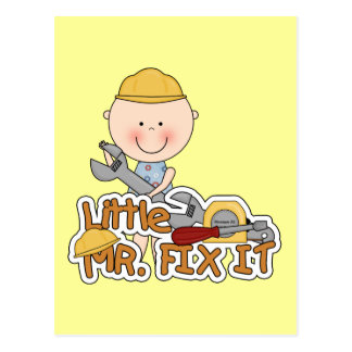 Little Mr. Fix It - Wrench Tshirts and Gifts Post Cards