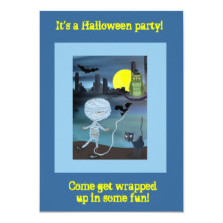 Little Mummy Halloween trick or treat Card
