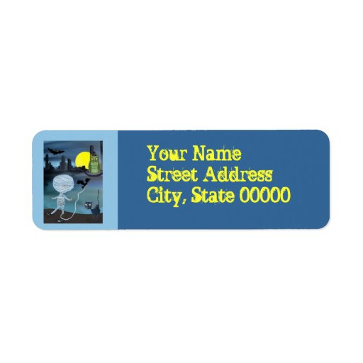 Little Mummy Halloween trick or treat Return Address Label