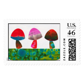 Little Mushies Postage Stamp