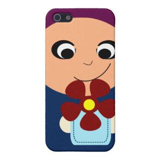 Little muslim girl purple hijab hijabi cartoon case for iPhone SE/5/5s