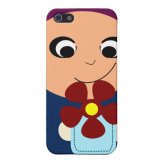 Little muslim girl purple hijab hijabi cartoon iPhone SE/5/5s cover