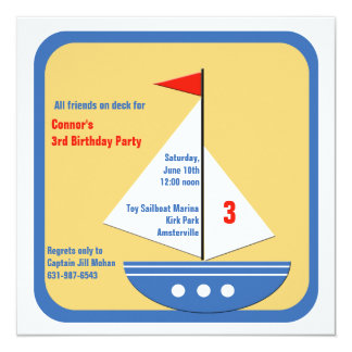Little Navigator - Birthday Party Invitation