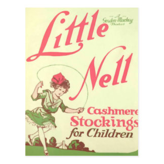 Little Nell and Her Cashmere Stockings Postcard