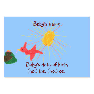 Little nest pocket birth announcement photo card business card templates
