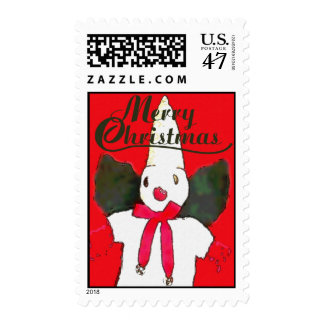 Little New Orleans Snowman Postage