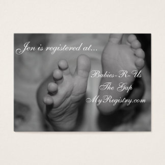 Little Newborn Feet Baby Registry Cards
