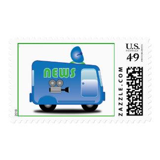 Little News Van Postage Stamps
