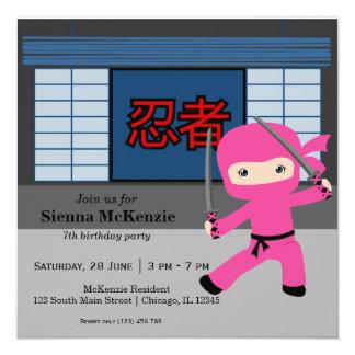 Little ninja birthday theme card