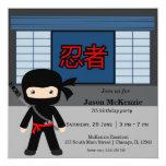 Little ninja birthday theme custom invite