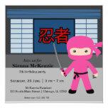 Little ninja birthday theme personalized announcement