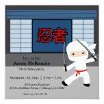 Little ninja birthday theme personalized invite