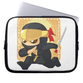 Little Ninja Holding Japanese Sword Laptop Computer Sleeves