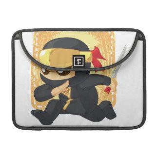 Little Ninja Holding Japanese Sword Sleeves For MacBooks