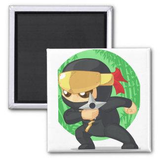 Little Ninja Holding Shuriken Magnets