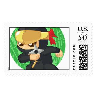 Little Ninja Holding Shuriken Postage