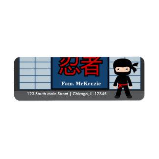 Little Ninja Labels