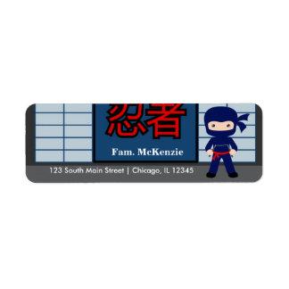 Little Ninja Label