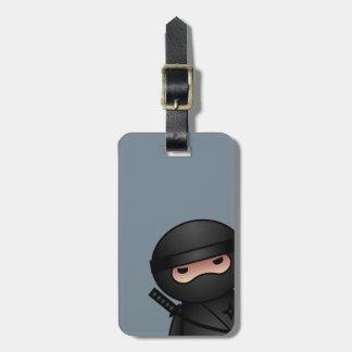 Little Ninja on Gray Tag For Luggage