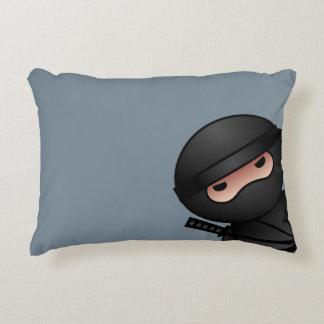 Little Ninja Warrior on Grey Accent Pillow