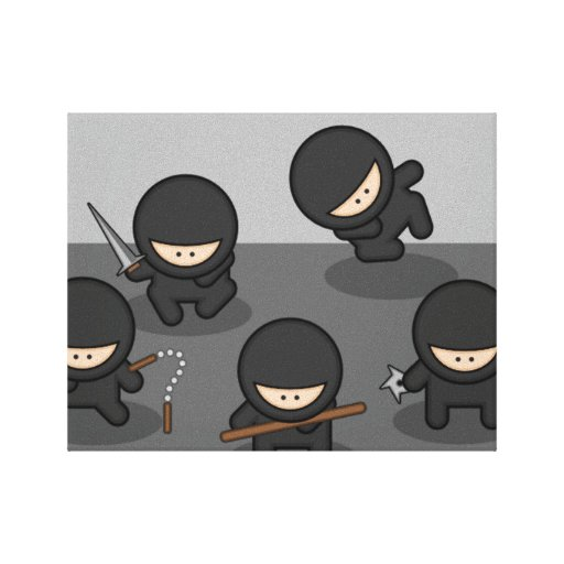 LITTLE NINJAS WALL ART Wrapped Canvas Gallery Wrapped Canvas